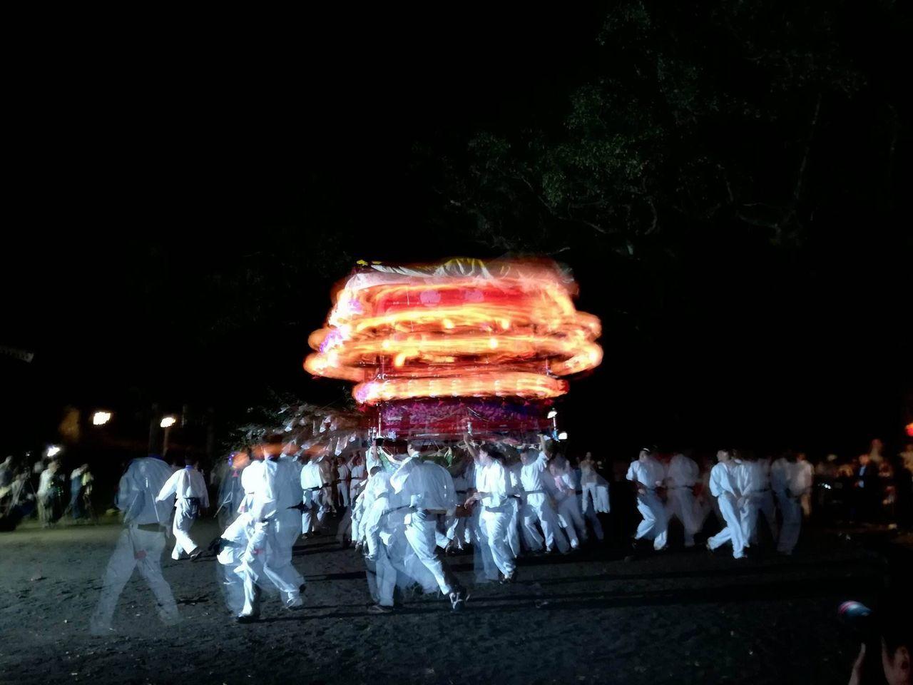 吉良川御田八幡宮で舞う花台