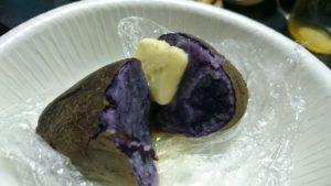 紫ジャガイモ じゃがバター