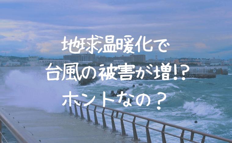 地球温暖化のせいで台風被害が増加!?それってホントなの?