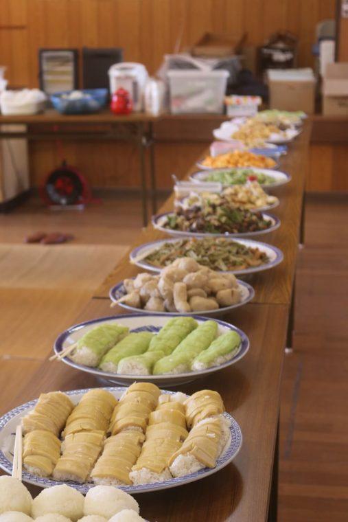 日南の田舎料理のフルコース