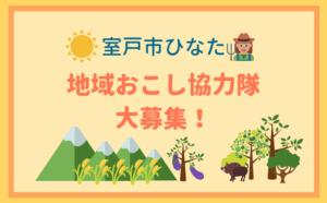 高知県室戸市ひなた地区 地域おこし協力隊 大募集!