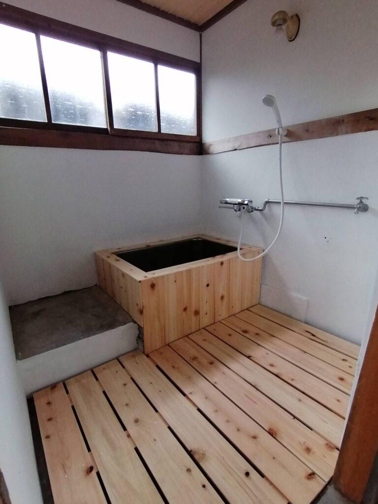お風呂DIY ひのき風呂